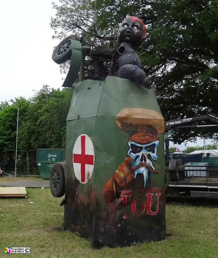 2015 Medix Ford Transit Type Ii Ambulance: Mutant's Want You ! Glastonbury Festival 2015 :: Traveller